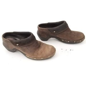Merrell Leather Clogs Rubber Soles Size 8 EUR 38.5
